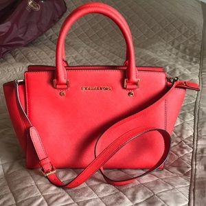 Michael Kors new bright orange/red bag